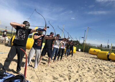 Archery Tag na imprezie firmowej w Warszawie, na Monta Beach Club